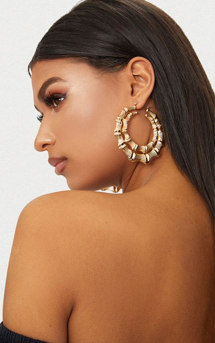 Gold Double Creole Hoop Earrings