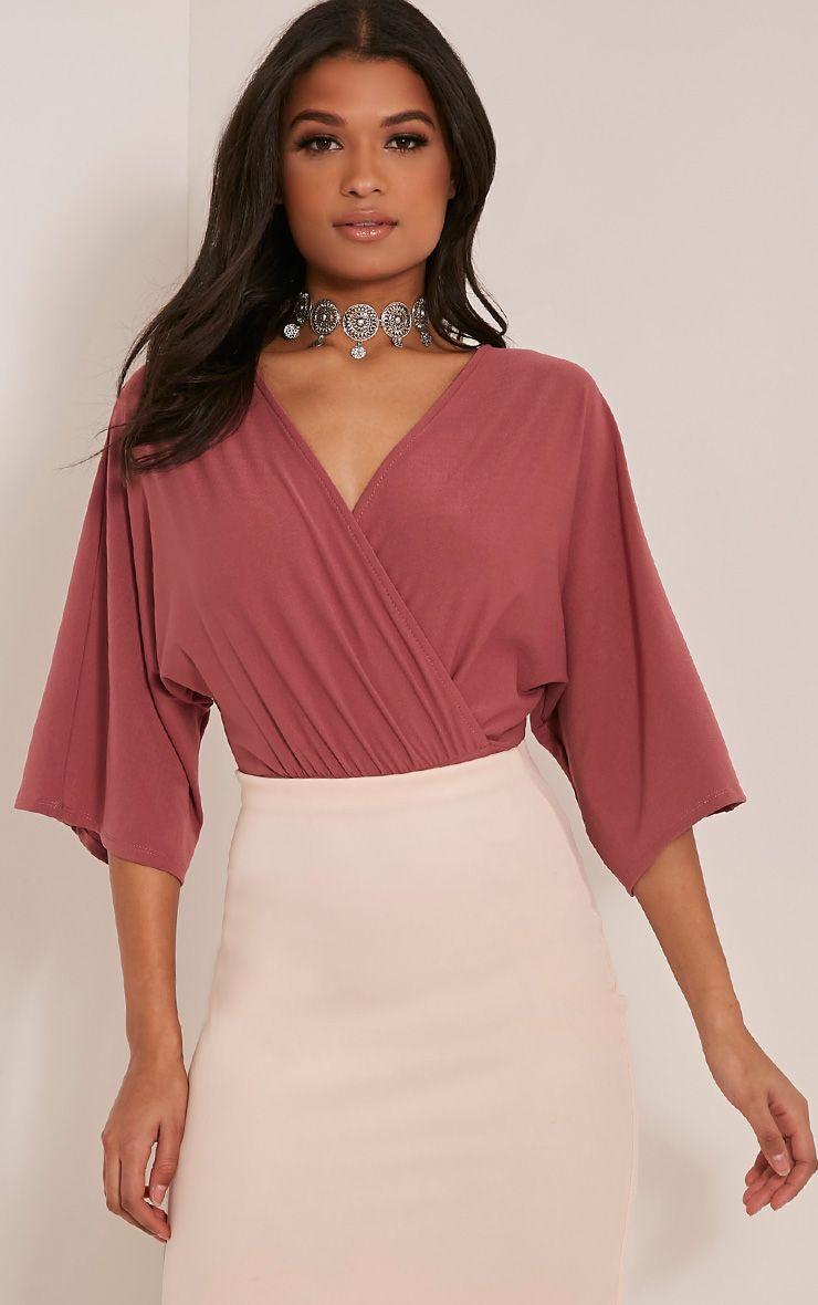 Kataleena Rose Kimono Bodysuit 1