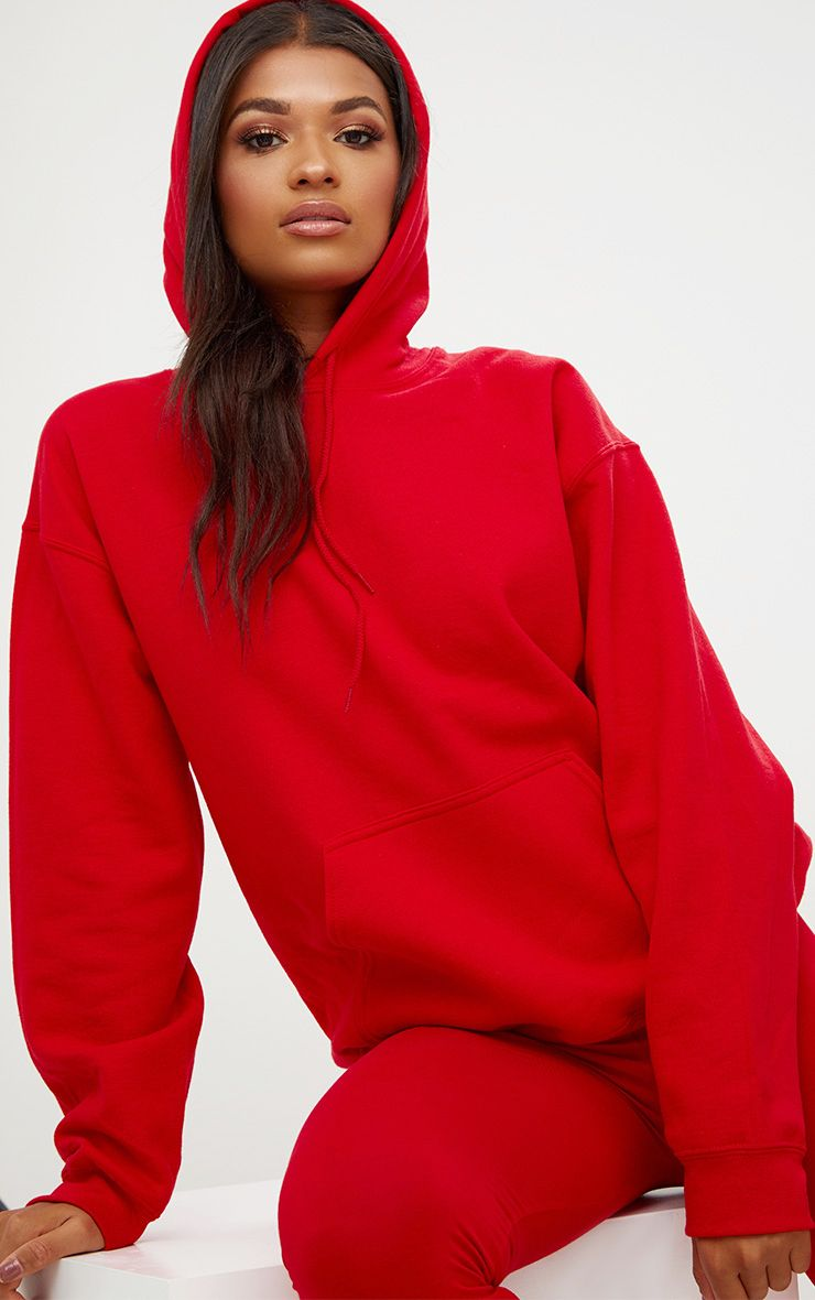 Sweat ultime oversized rouge