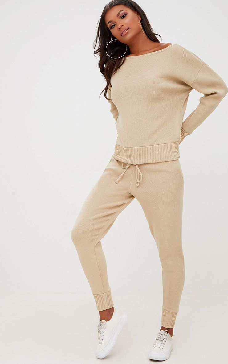 Stone Jogger Jumper Knitted Lounge Set