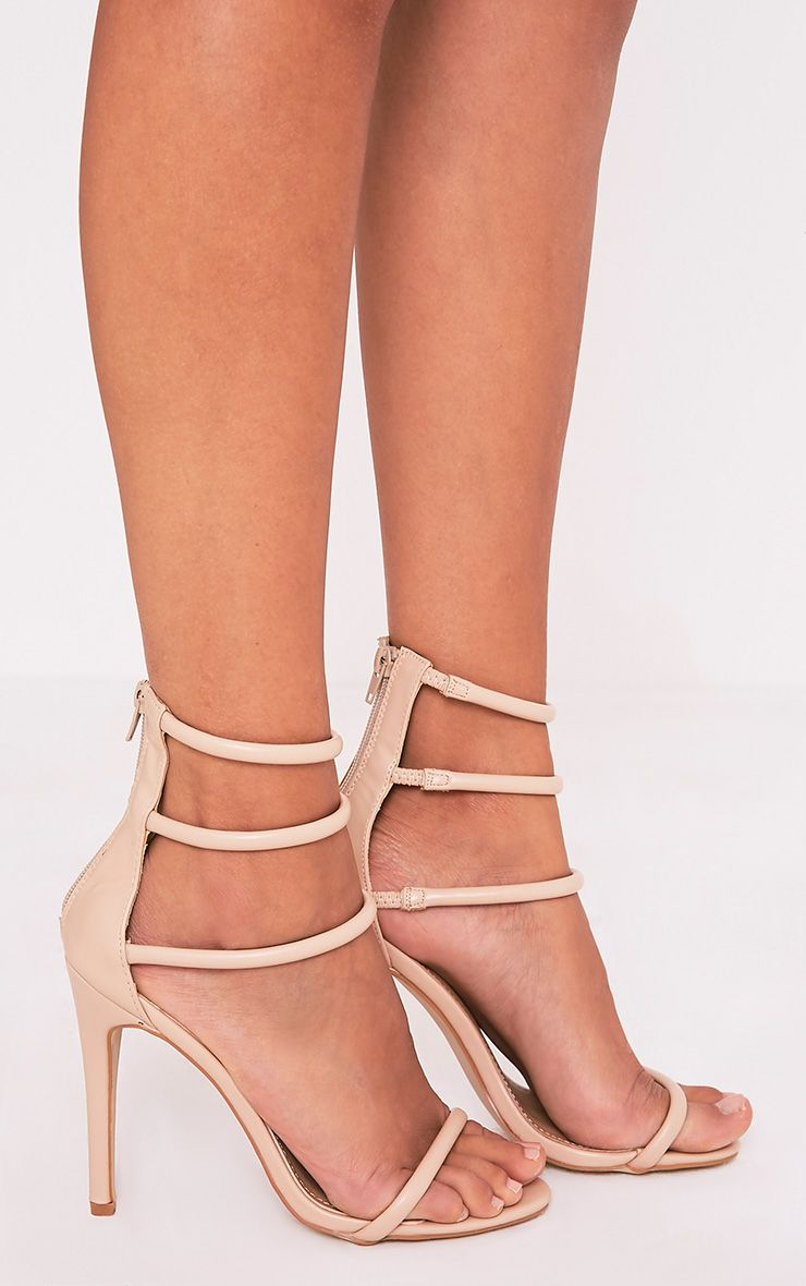 Nadine Nude Strappy Heeled Sandals 3