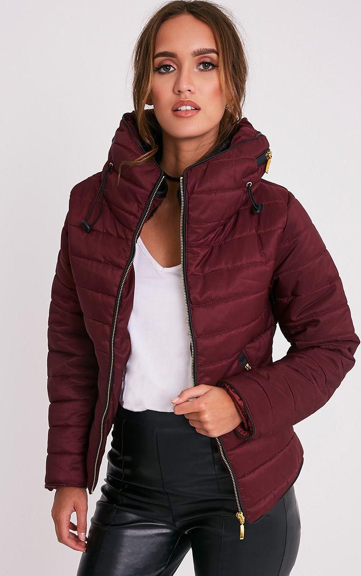 Mara Burgundy Padded Jacket