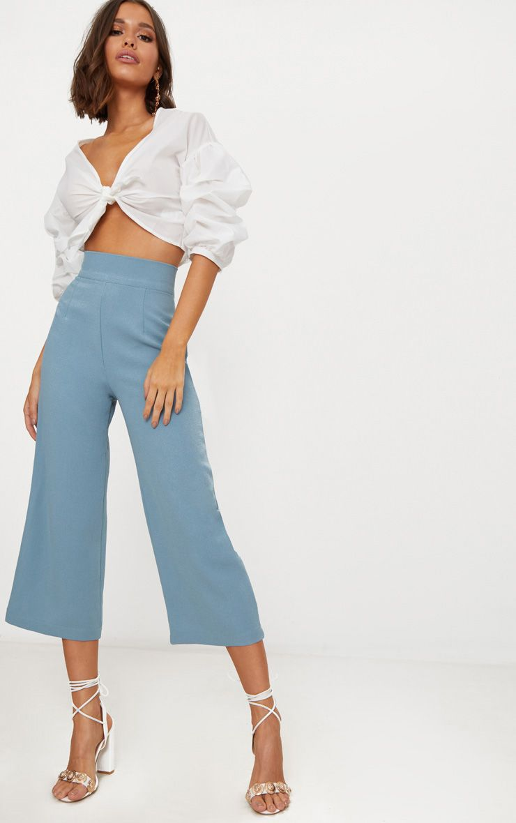 PRETTYLITTLETHING Dusty High Waisted Culottes Cheap Sale Outlet Store Low Shipping Fee Cheap Price OnXKZRX