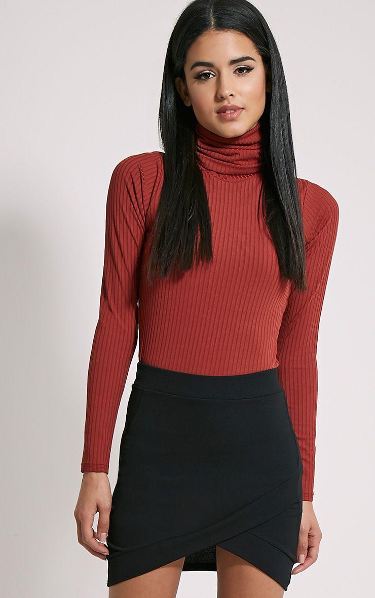 Gabriella Black Asymmetric Mini Skirt