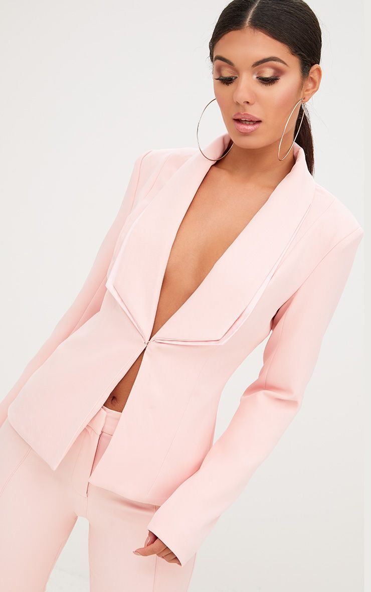 Pink Double Lapel Blazer