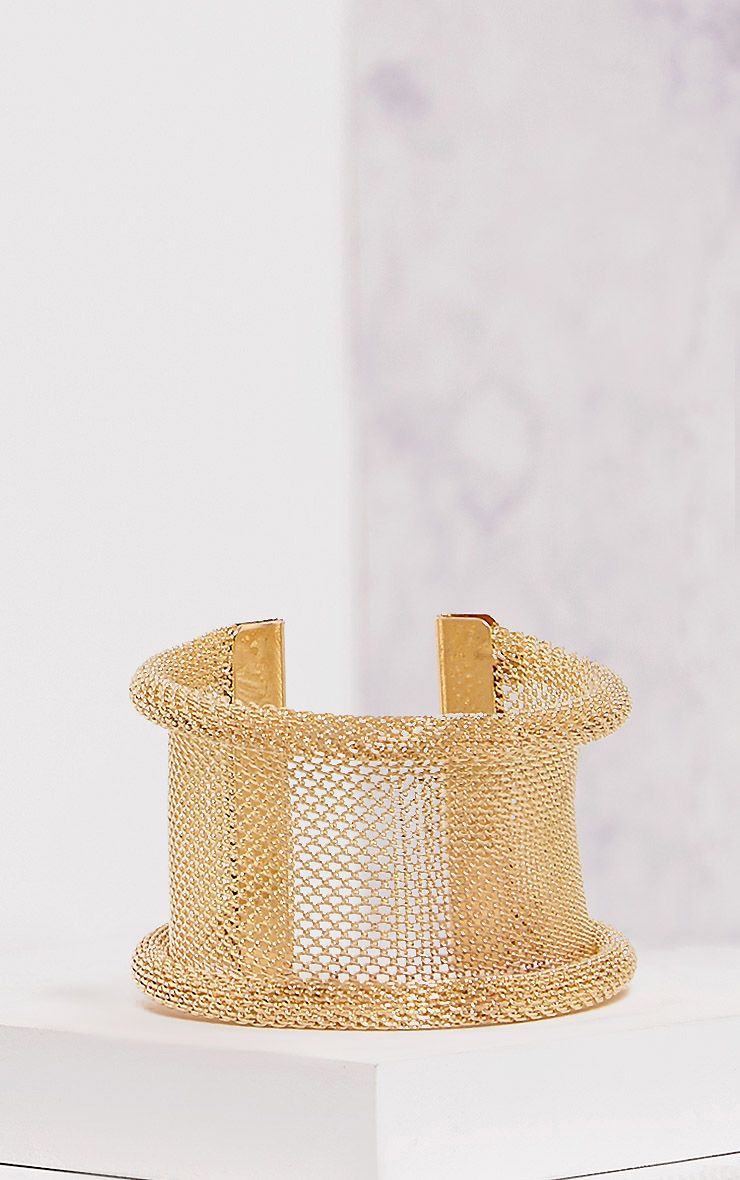 Eldie Gold Mesh Arm Cuff