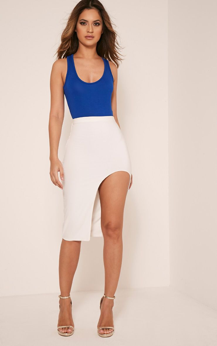 Basic Cobalt Racer Back Bodysuit