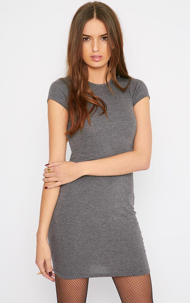Basic Charcoal Jersey Dress 1