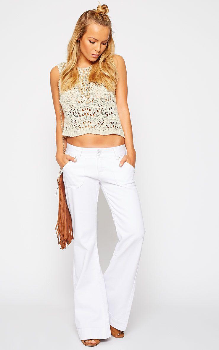 Tierna White Flared Jean 1