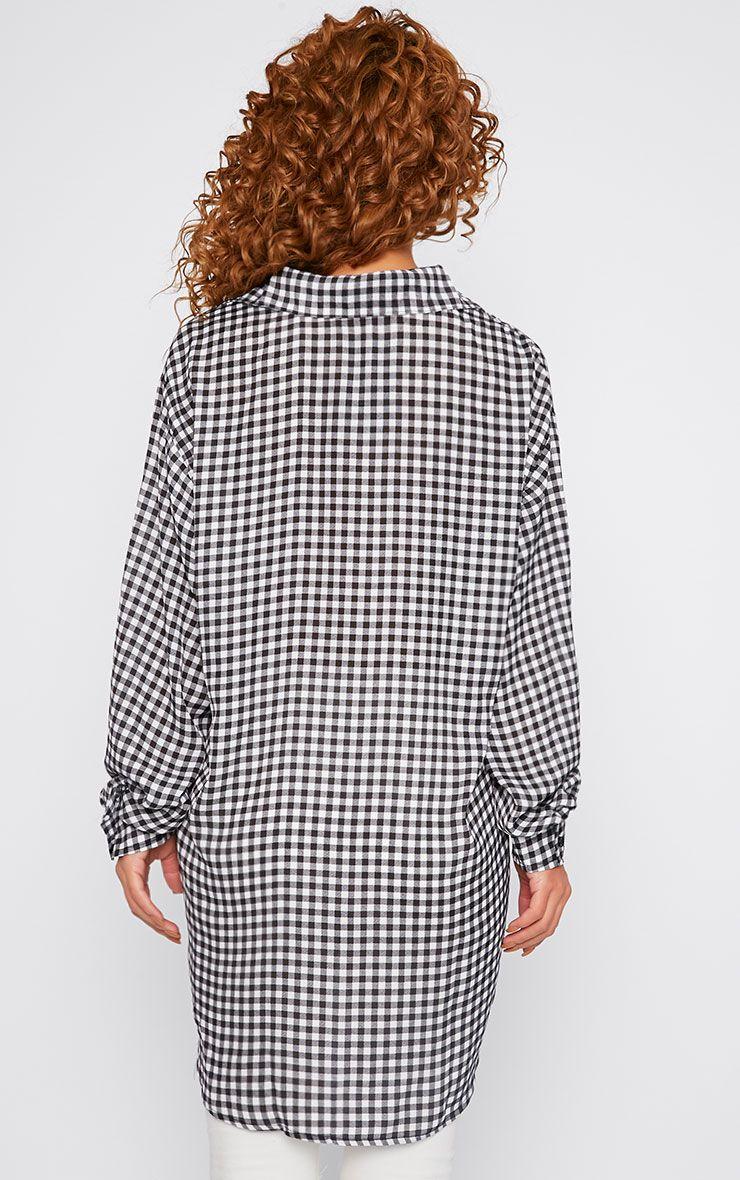 Darcia Gingham Oversized Shirt  2