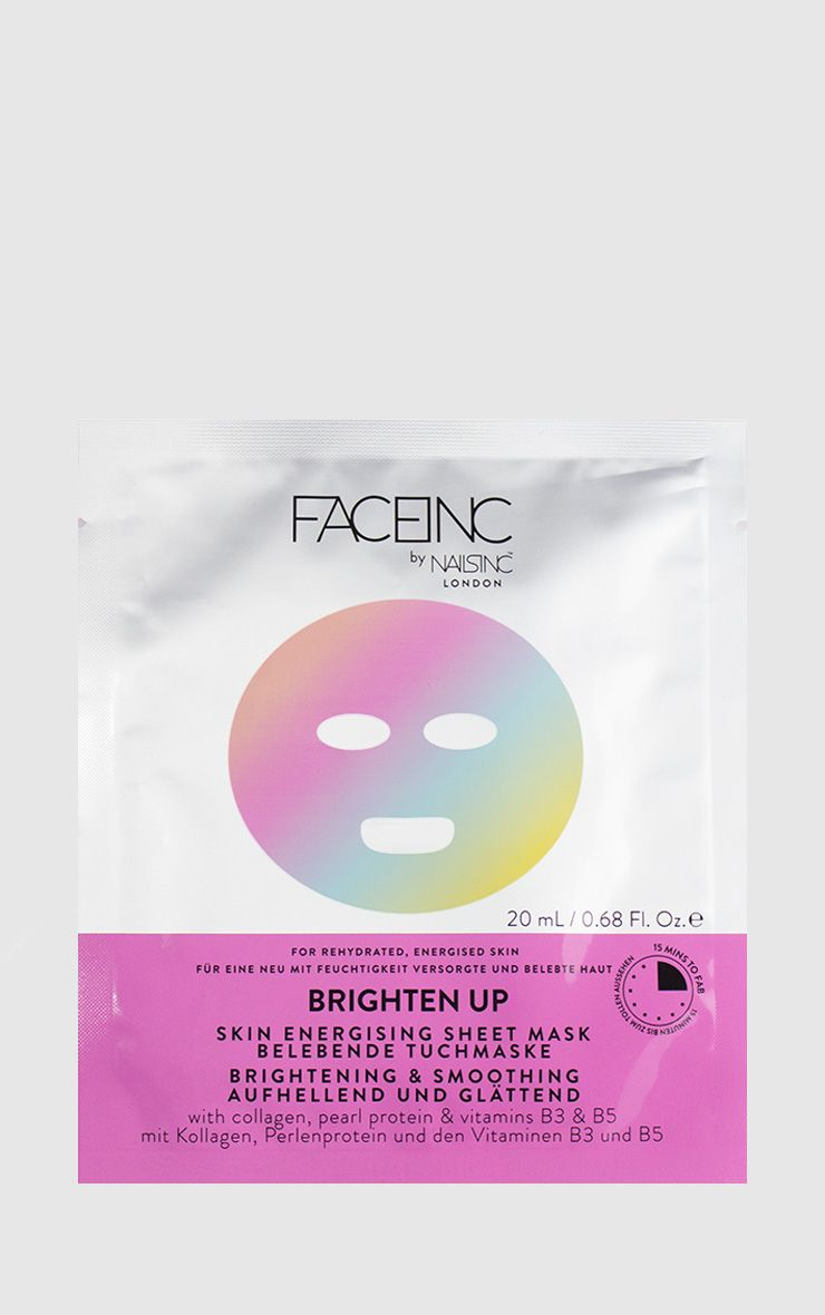 FACEINC By NAILSINC Brighten Up Sheet Mask