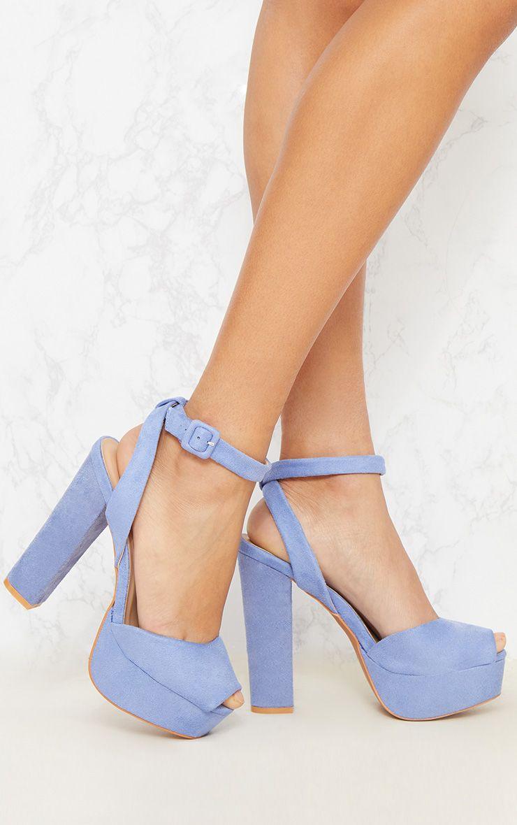 Pale Blue Platform Sandal