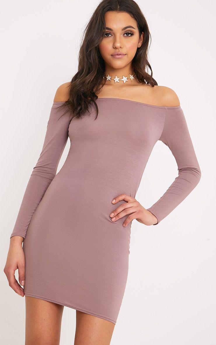 Basic Truffle Bardot Bodycon Dress