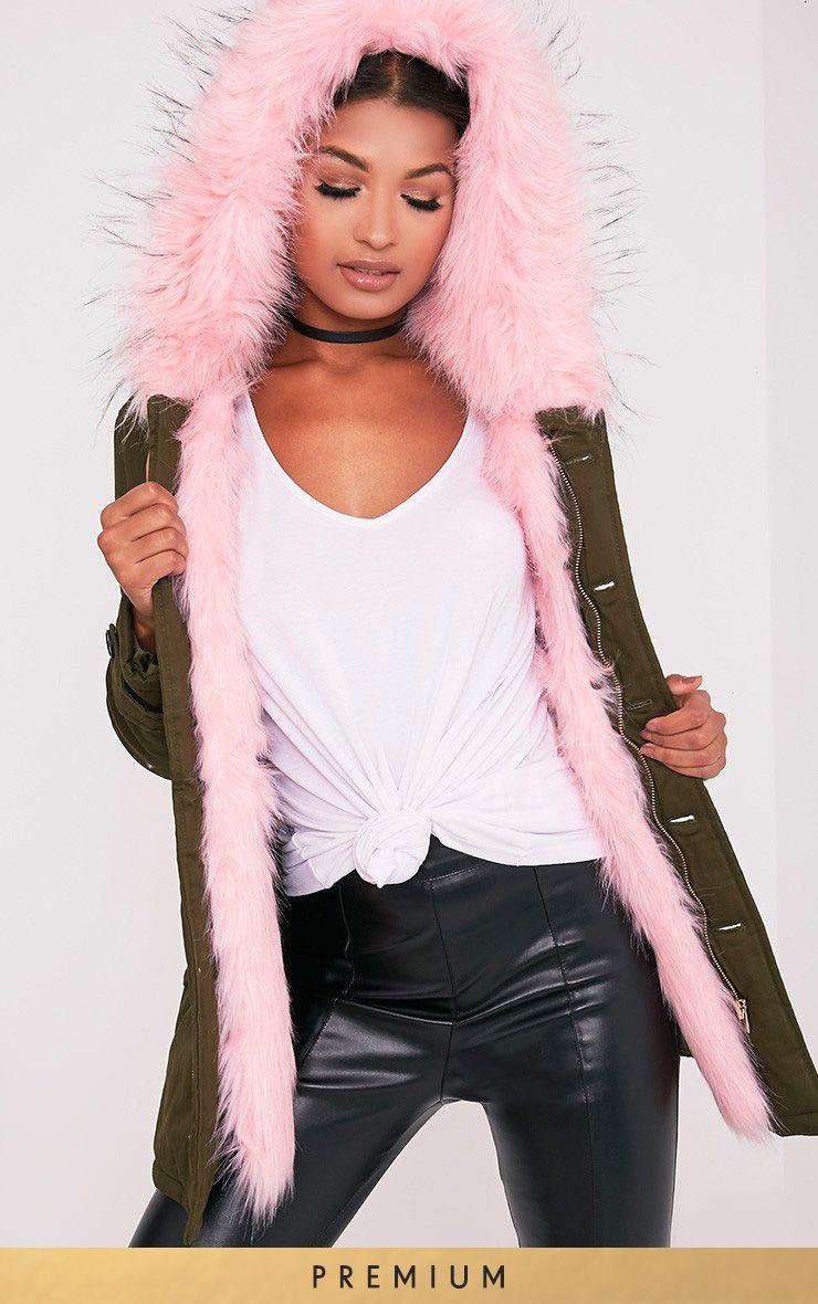 Jen Pink Faux Fur Lined Parka