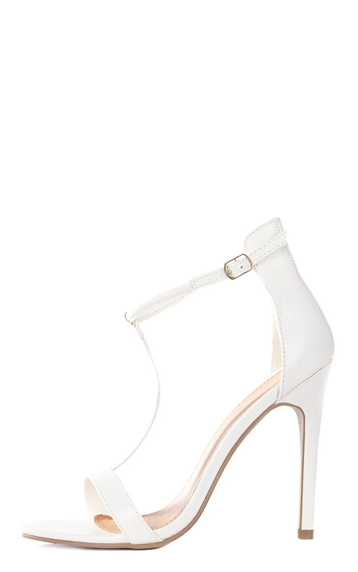 Jordan Cream Strappy T Bar Heeled Sandal  1