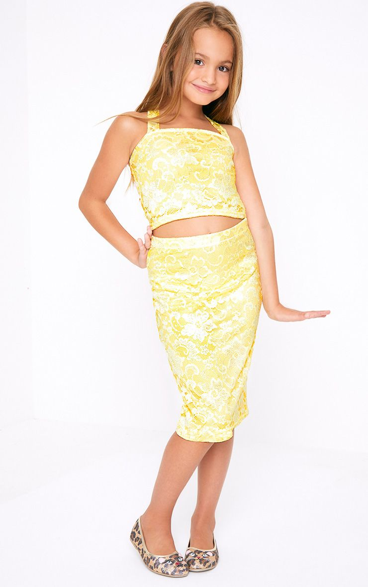 Lace Midi Lemon Skirt
