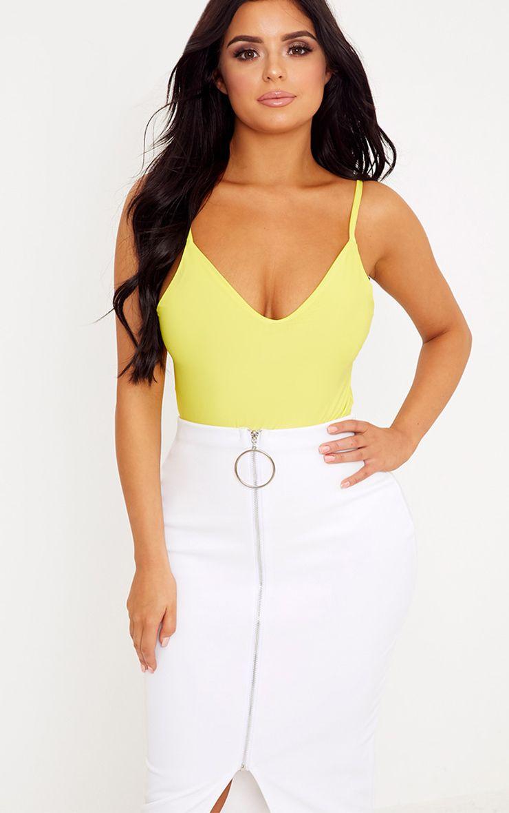 Shape Francina Lemon Slinky Plunge Bodysuit