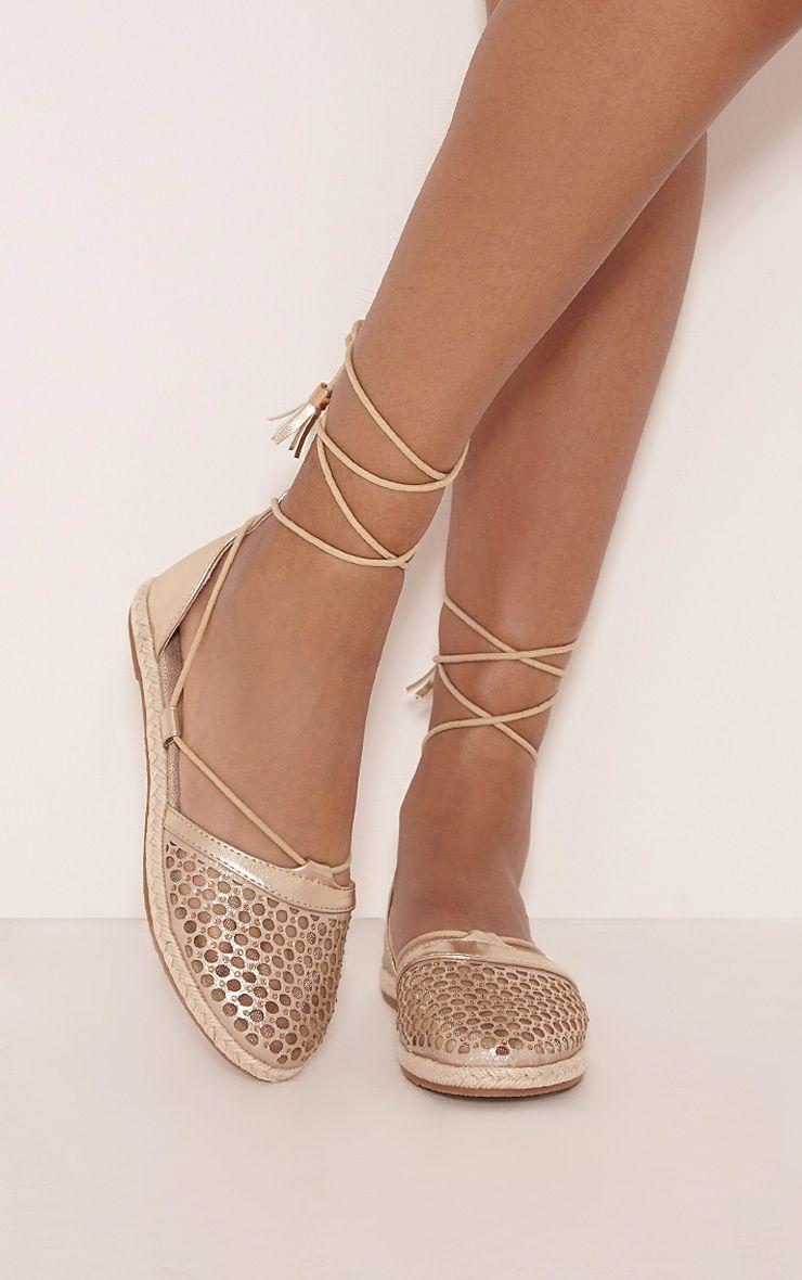 Margo Gold Metallic Espadrille Sandals 1