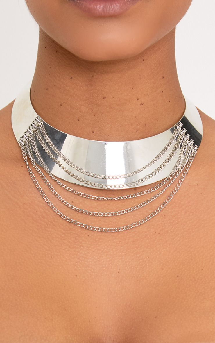 Lindie Silver Chain Overlay Choker