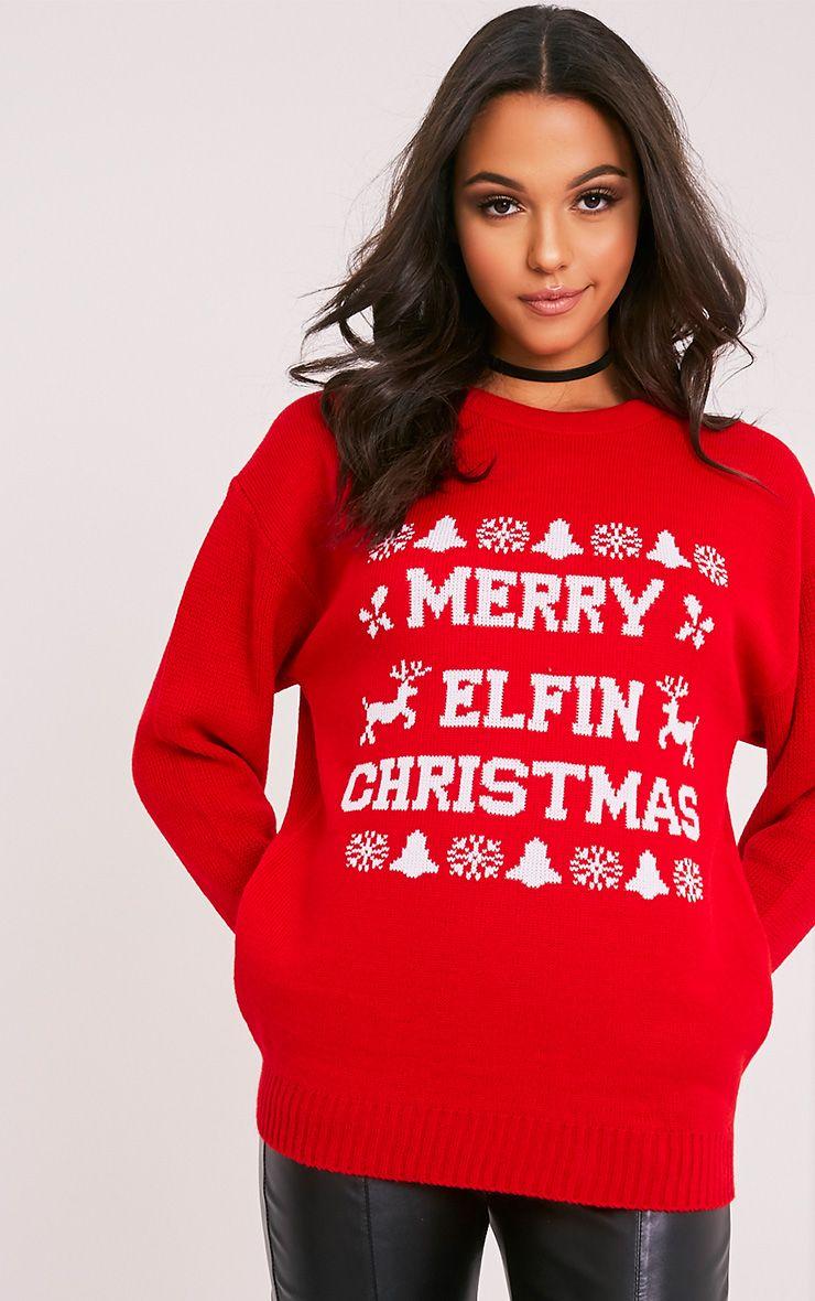 Merry Elfin Christmas Jumper