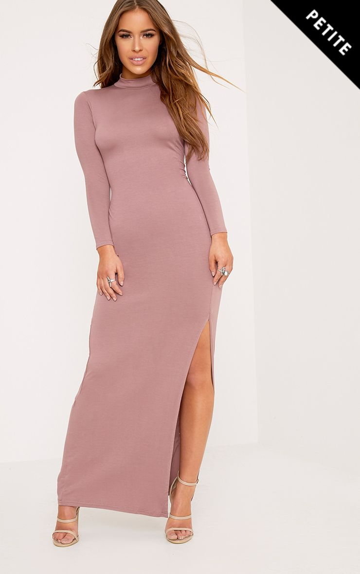 Petite Marrion Truffle Split Detail Bodycon Maxi Dress