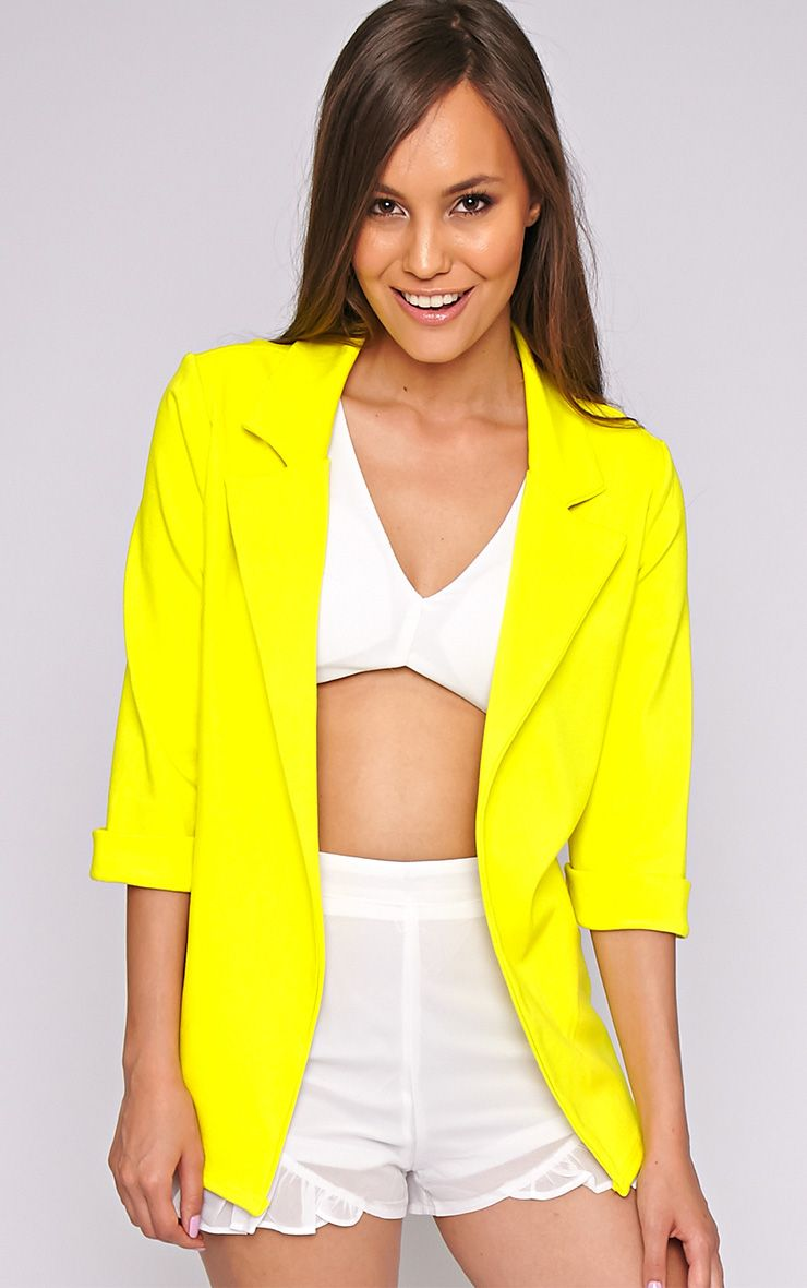 Alexa Lime Longline Blazer 1