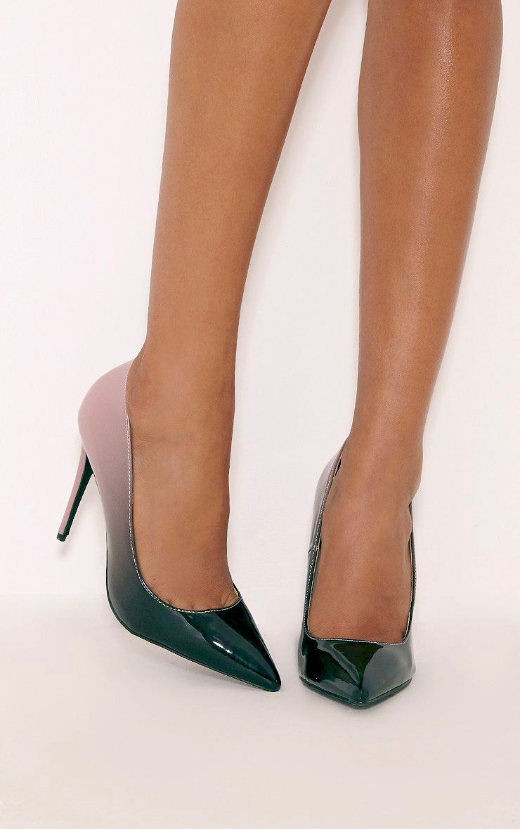 Noella Pink Patent Ombre Court Shoes 1