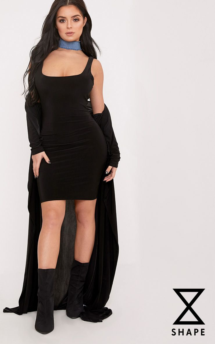 Shape Abbi Black Slinky Mini Dress