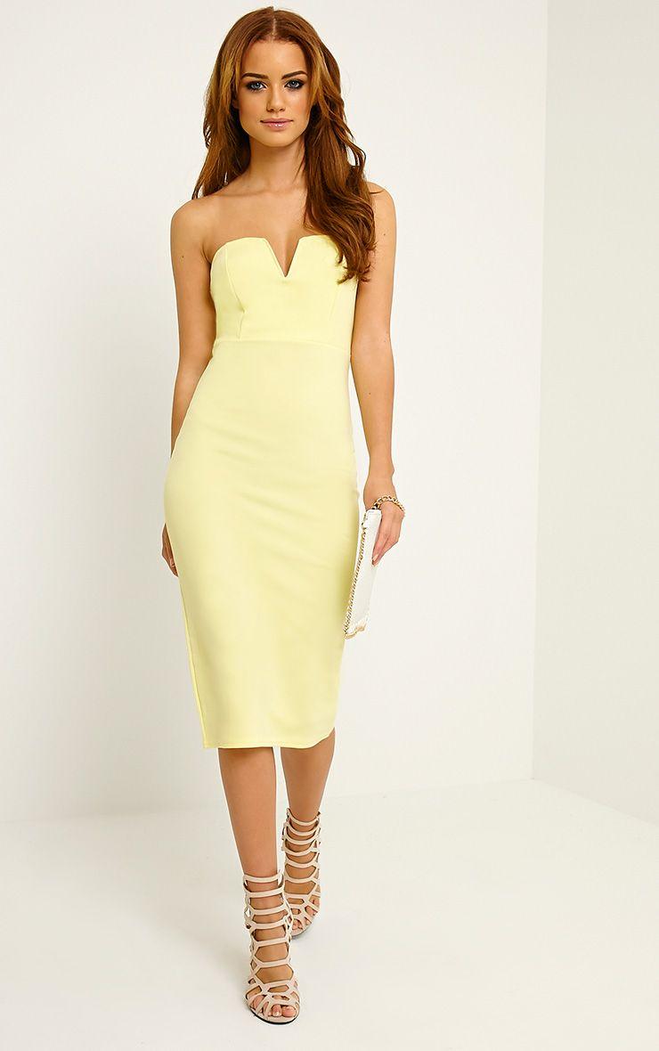 Zenda Lemon Bandeau Midi Dress 1