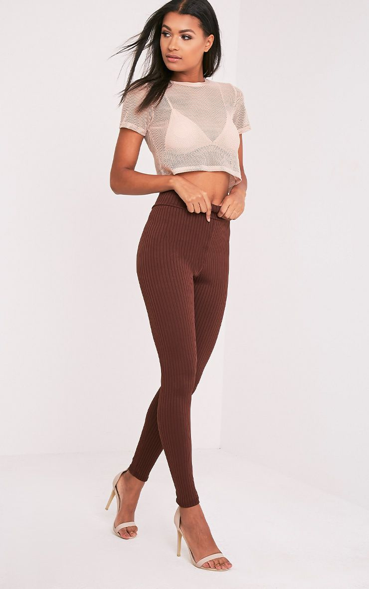 Harlie Brown Ribbed High Waisted Leggings