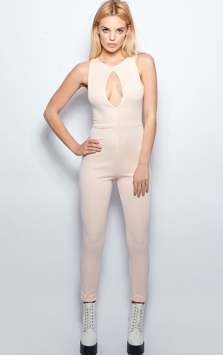 Stephanie Nude Cut Out Jumpsuit  1