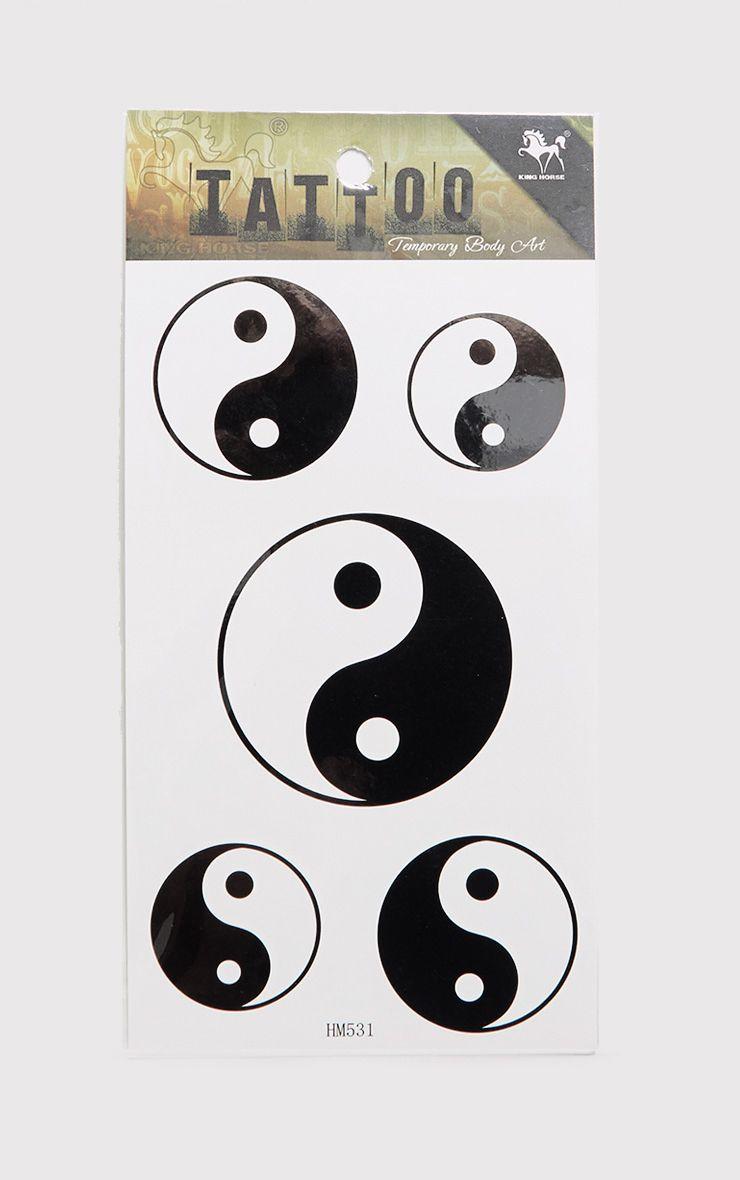 Ying & Yang Black Temporary Tattoo Kit