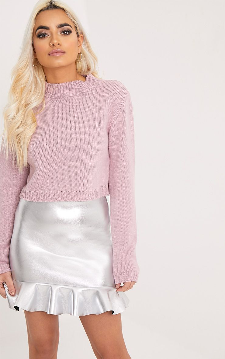 Zuly Blush Cropped Knitted Jumper