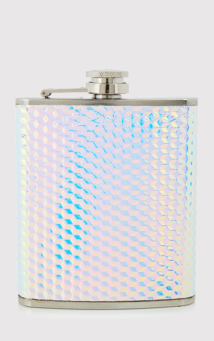 SkinnyDip Holographic Druzy Hip Flask