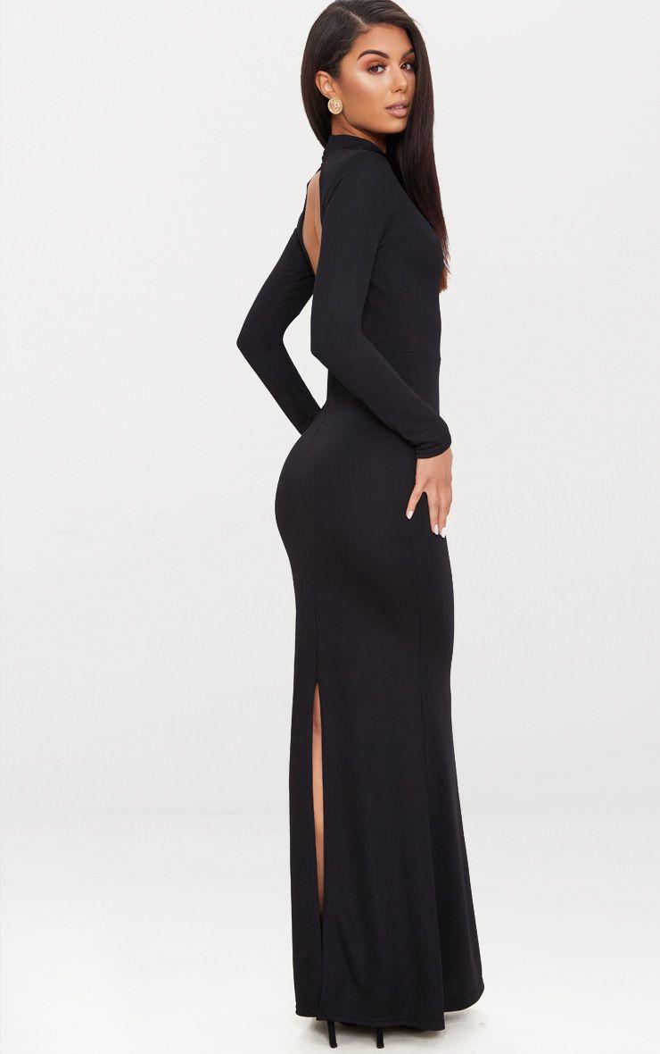 Tight Long Sleeve Maxi Dress