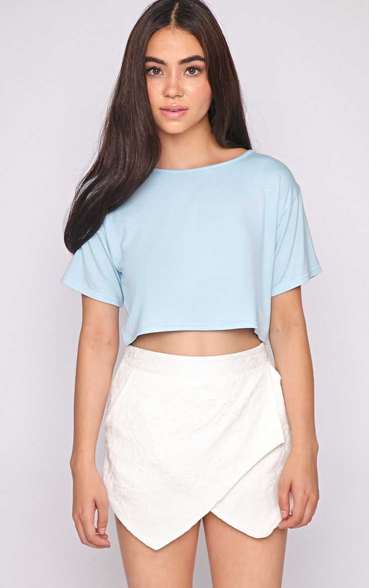 Lucille Blue Boyfriend Crop Top 1