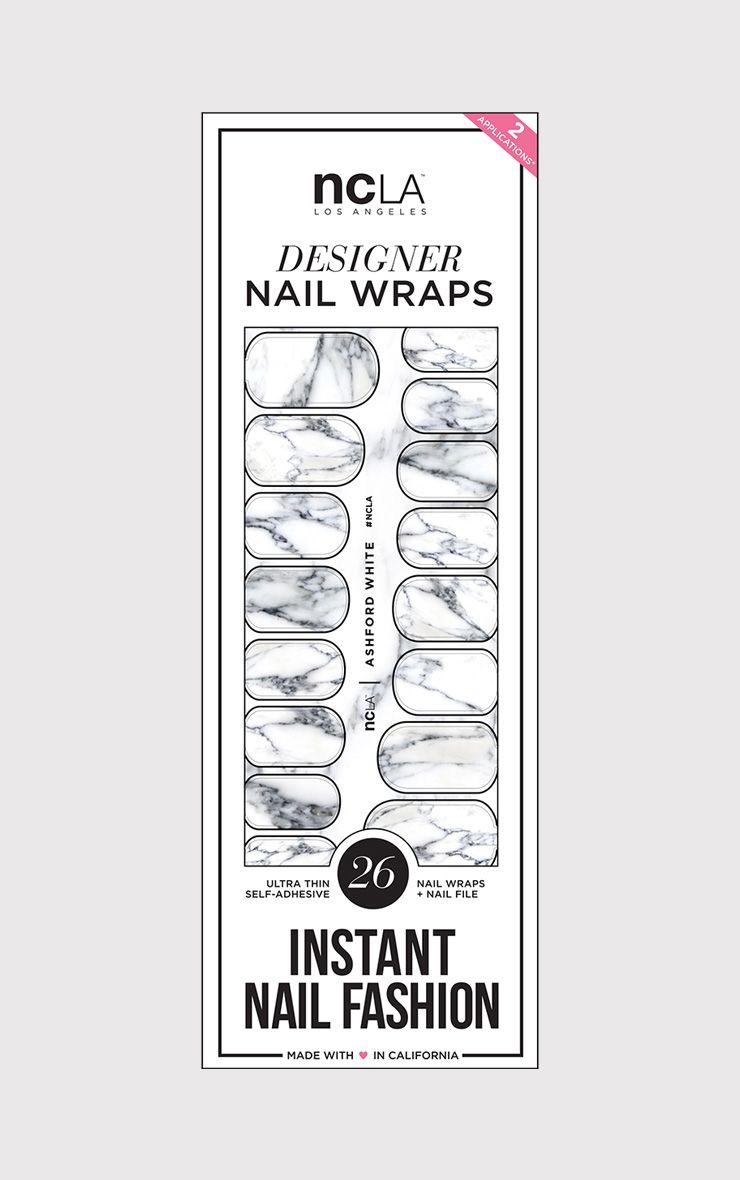 NCLA Ashford White Nail Wraps
