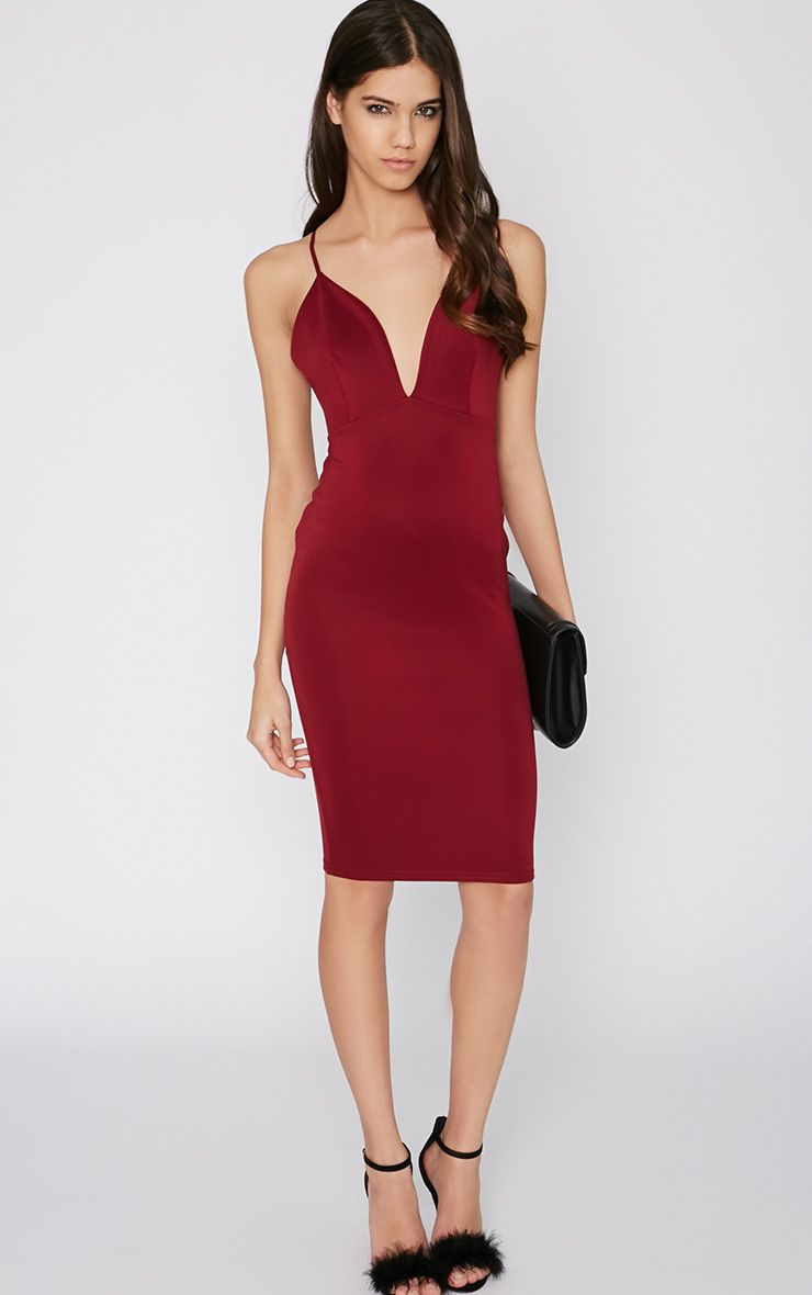 Mylee Wine Midi Dress 1
