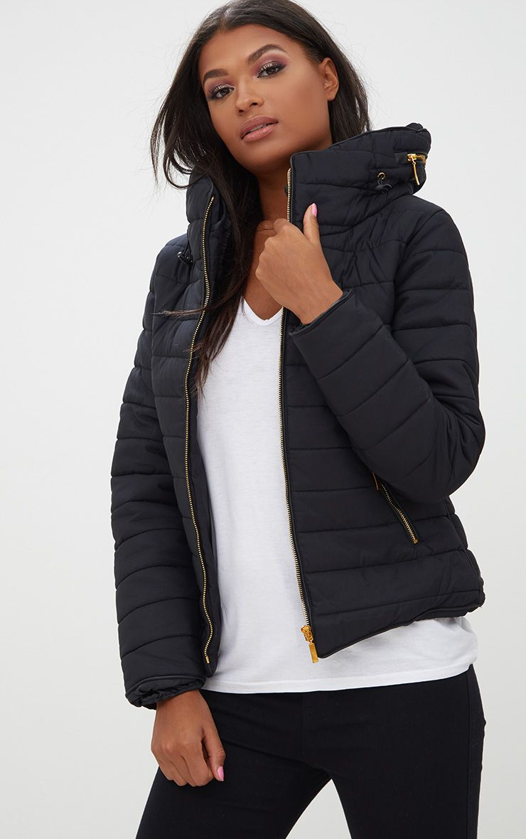 Mara Black Puffer Jacket