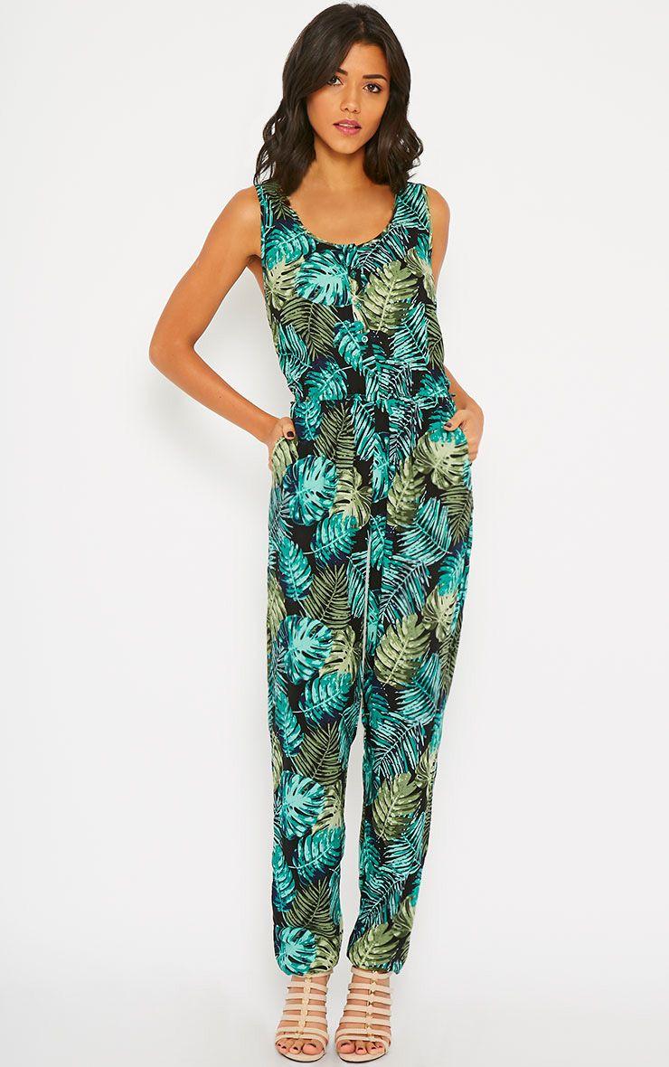 bellina hawaiian print jumpsuit jumpsuits