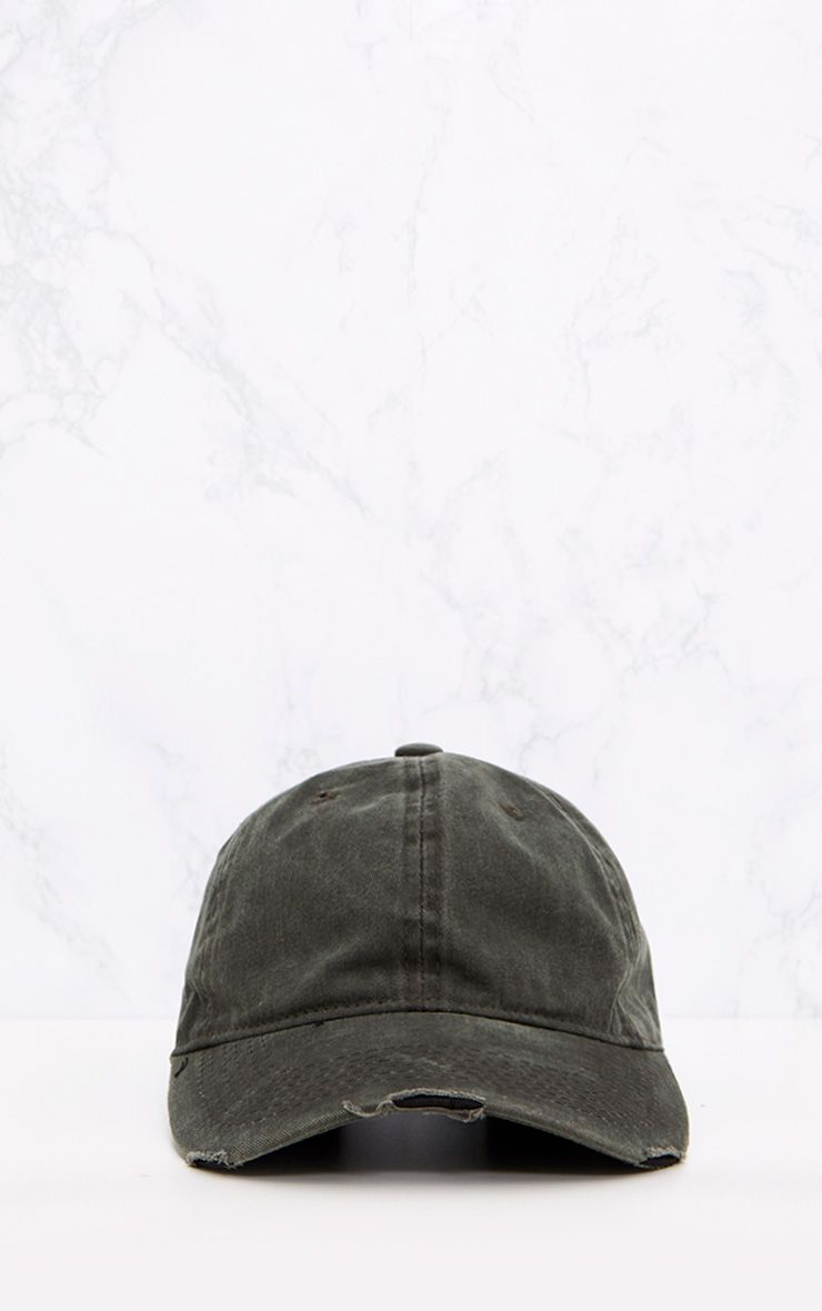 Grey Distressed Front Cap 3