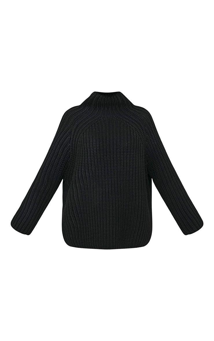Rheana Black Oversized Chunky Knit Jumper 3