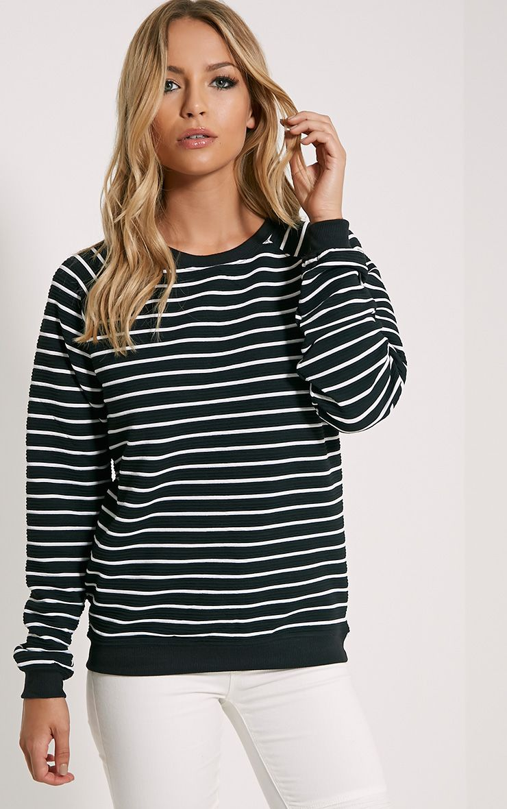 Louiza Black Stripe Jumper 1