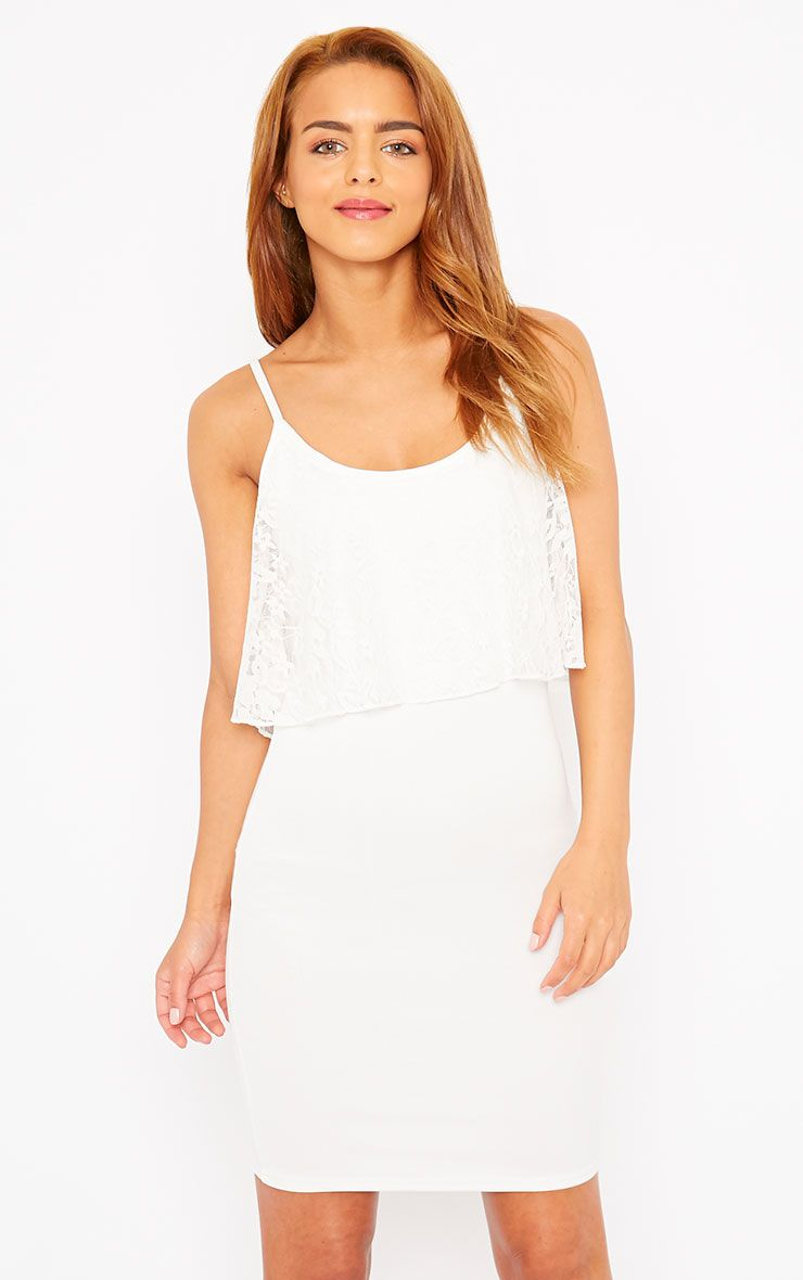 Gildi White Frill Detail Dress 1