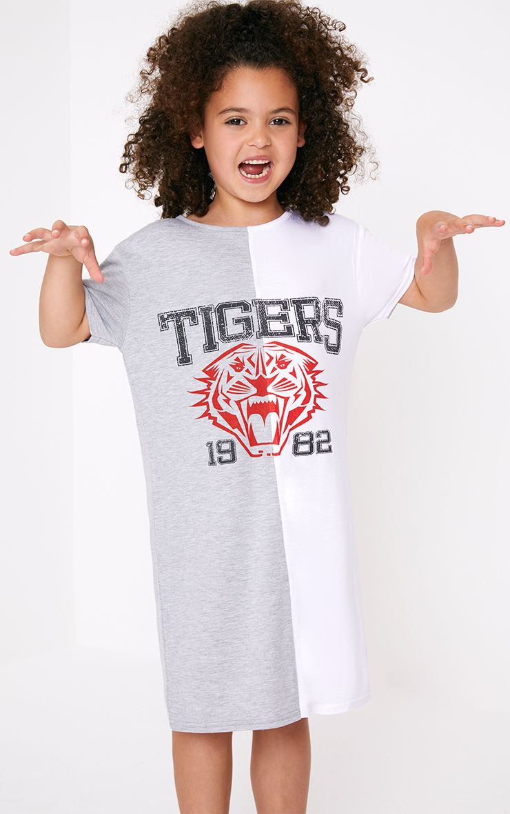 Tigers Two Tone Grey T Shirt Dress
