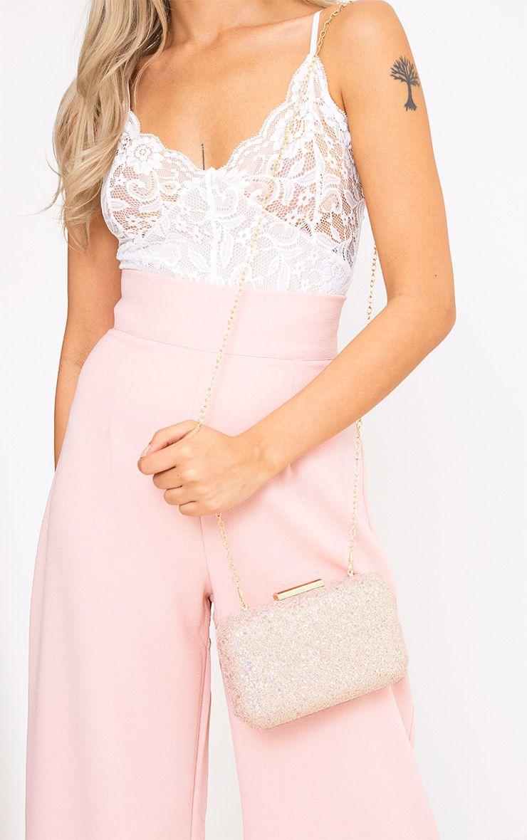 Pink Glitter Box Clutch