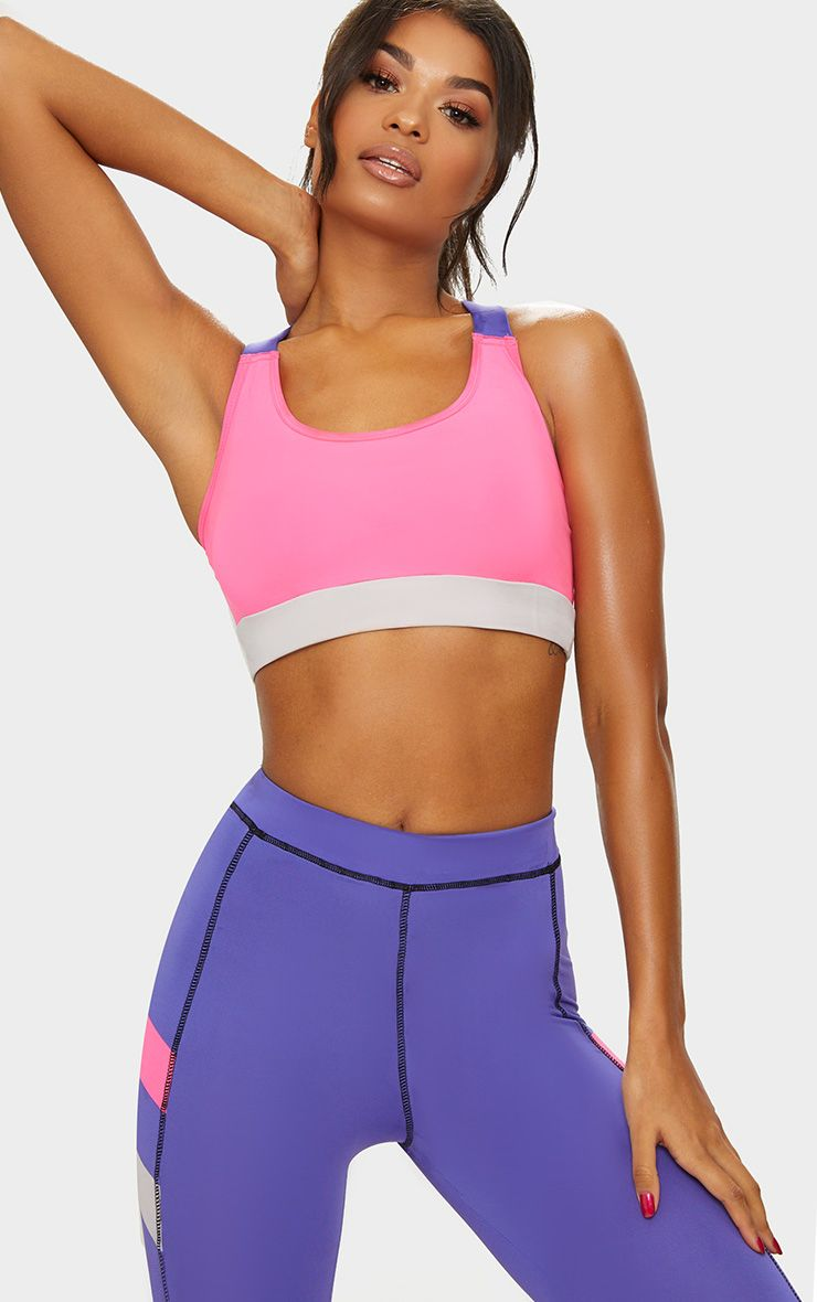 Pink Cross Back Crop Top