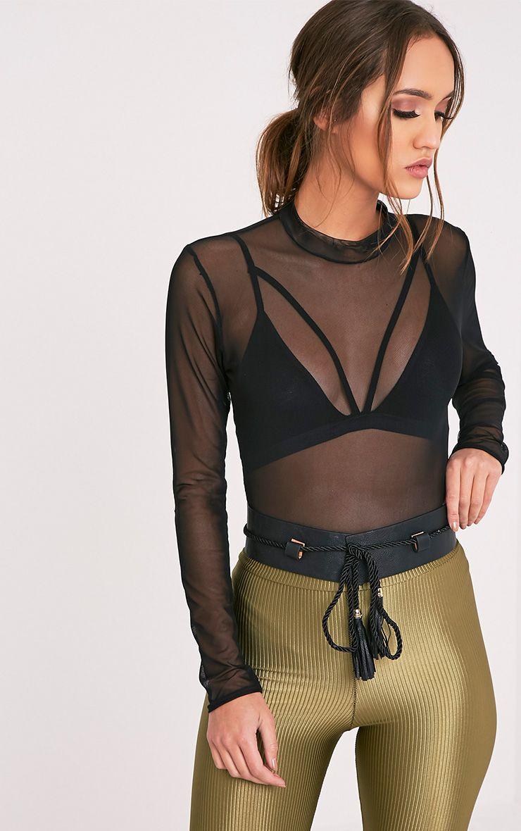 Adrial Black Waist Belt