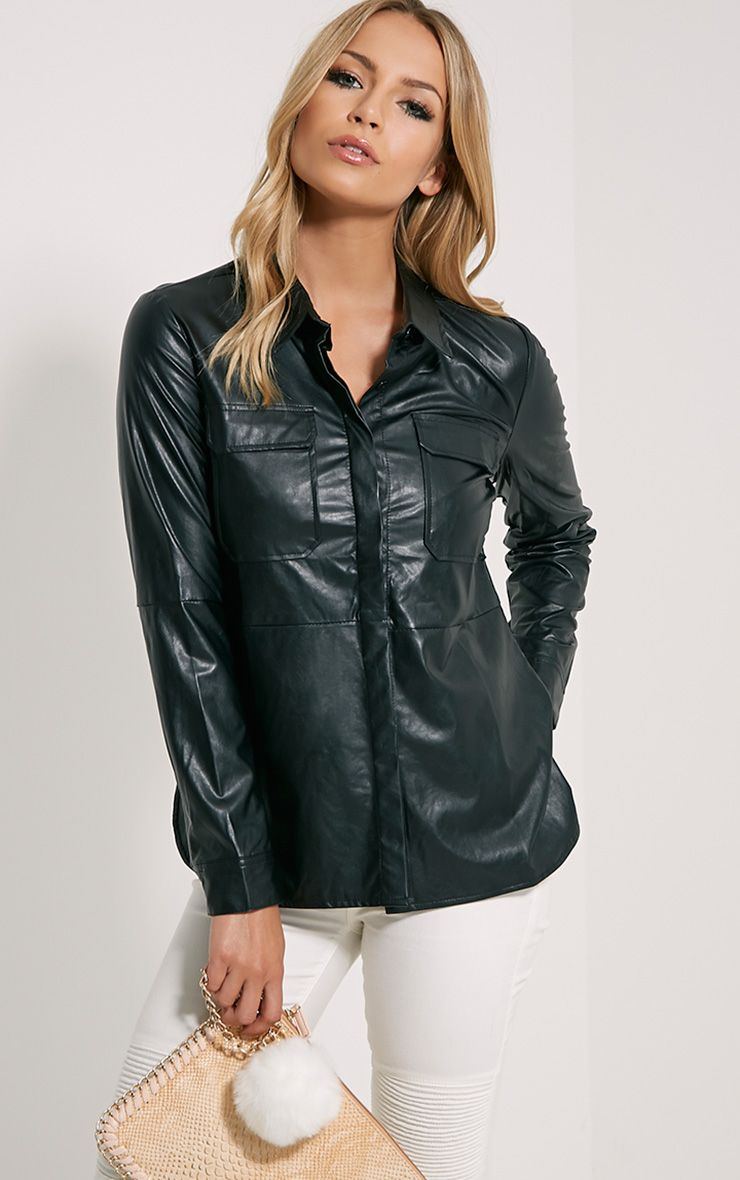 Dixie Black PU Shirt 1