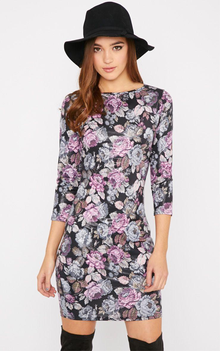Luisa Floral Bodycon Mini Dress 1